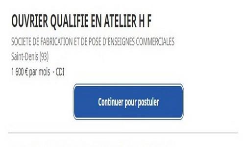 OUVRIER QUALIFIE EN ATELIER H/F